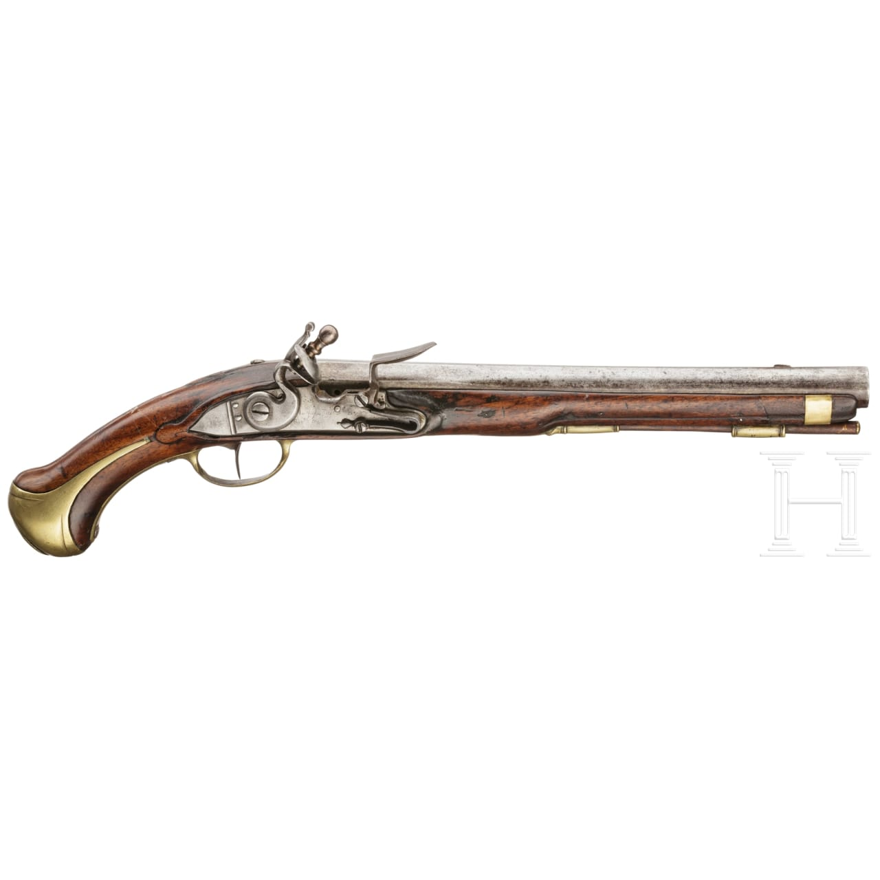 A French flintlock cavalry pistol similar to Mod. 1733/34, Charleville, circa 1740