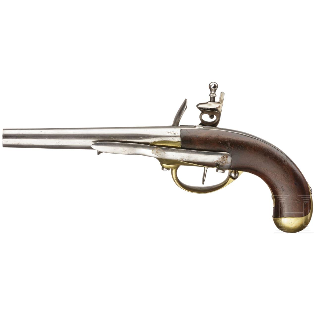 A French flintlock cavalry pistol Mod. 1777 1st pattern, St. Etienne, circa 1780