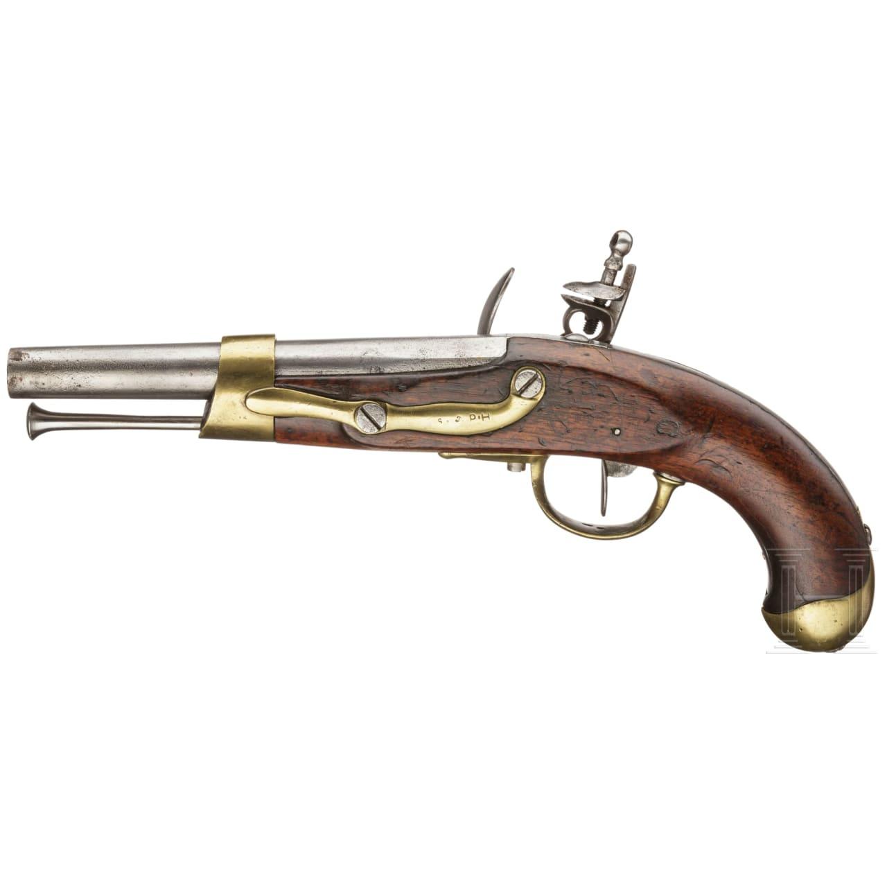 A French flintlock cavalry pistol M an 13, Charleville, circa 1810