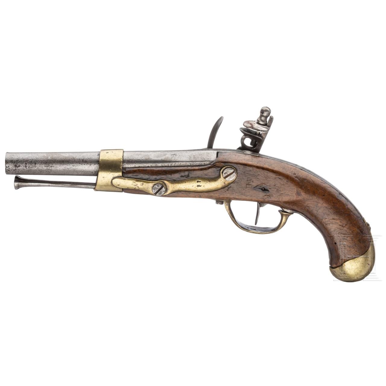 A flintlock pistol, M an 13