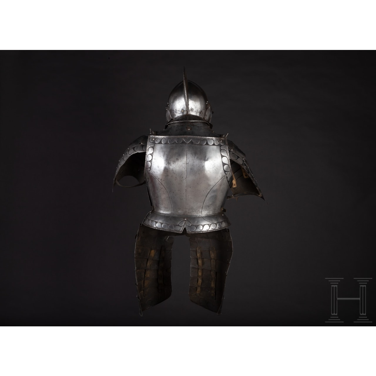 A South German black and white half armour for a man-at-arms, circa 1560