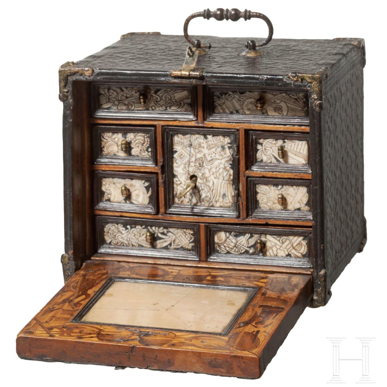 A miniature cabinet, probably Nuremberg, circa 1600
