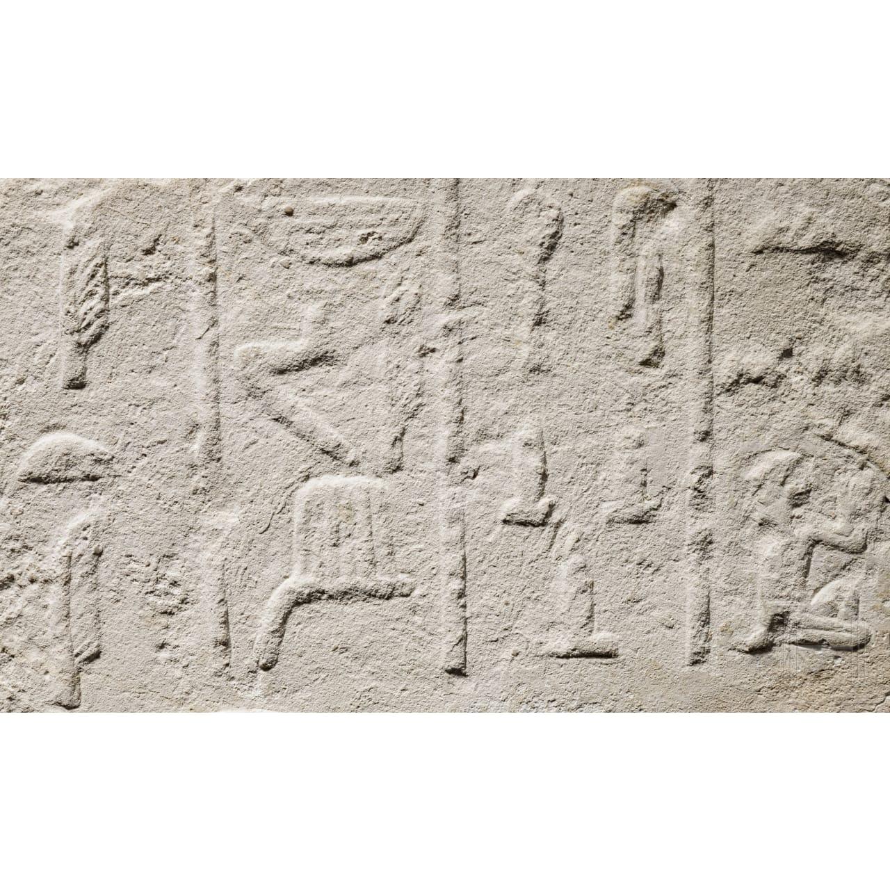 An impressive Egyptian limestone relief of Iti, Old Kingdom, 5th - 6th dynasty, 2498-2181 B.C.