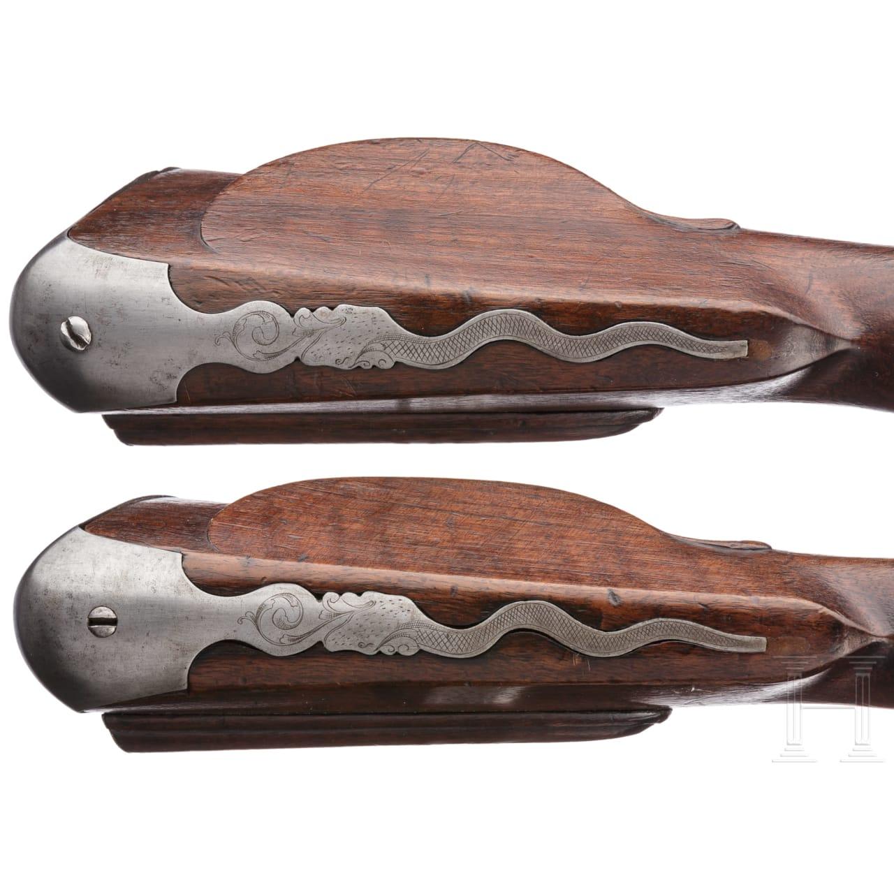 A pair of flintlock carbines by Jan Knoop in Utrecht, circa 1680