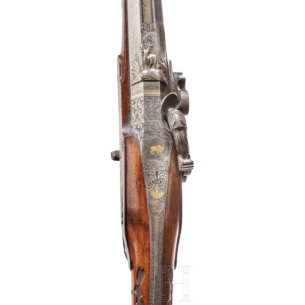 A luxury percussion rifle from the armoury of the Archdukes of Oldenburg, by Christian Morgenroth in Gernrode, circa 1830