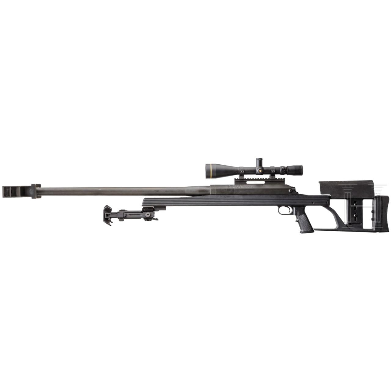 Armalite Mod. AR-50, with scope and bipod