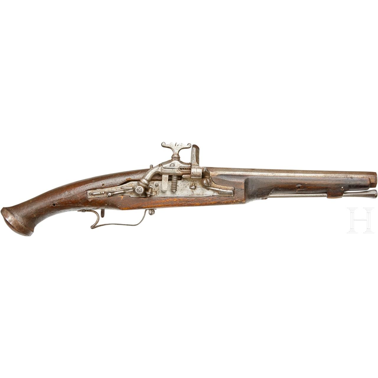 Schnapphahnschlosspistole, Portugal, 2. Hälfte 17. Jhdt.