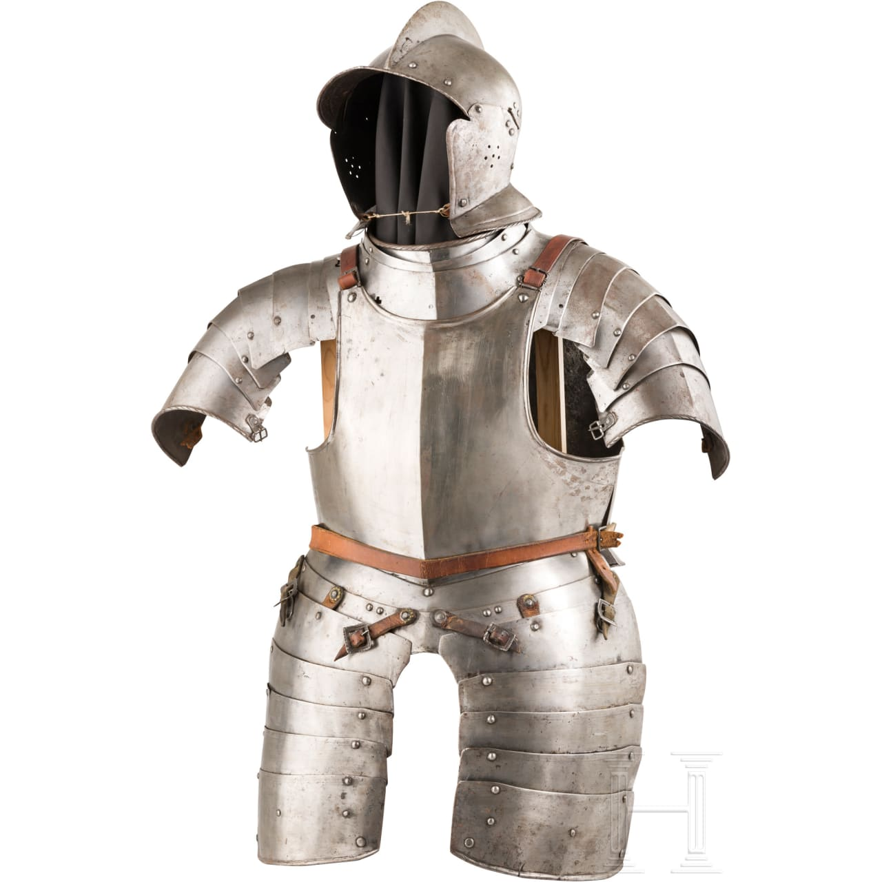 A Swiss half armour for a man-at-arms, 17th century