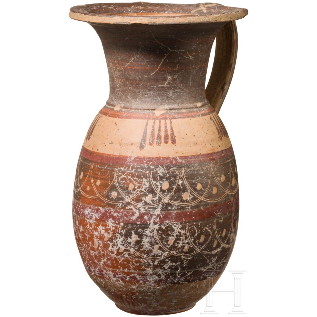 Etrusko-korinthische Kanne, spätes 7. - frühes 6. Jhdt. v. Chr.