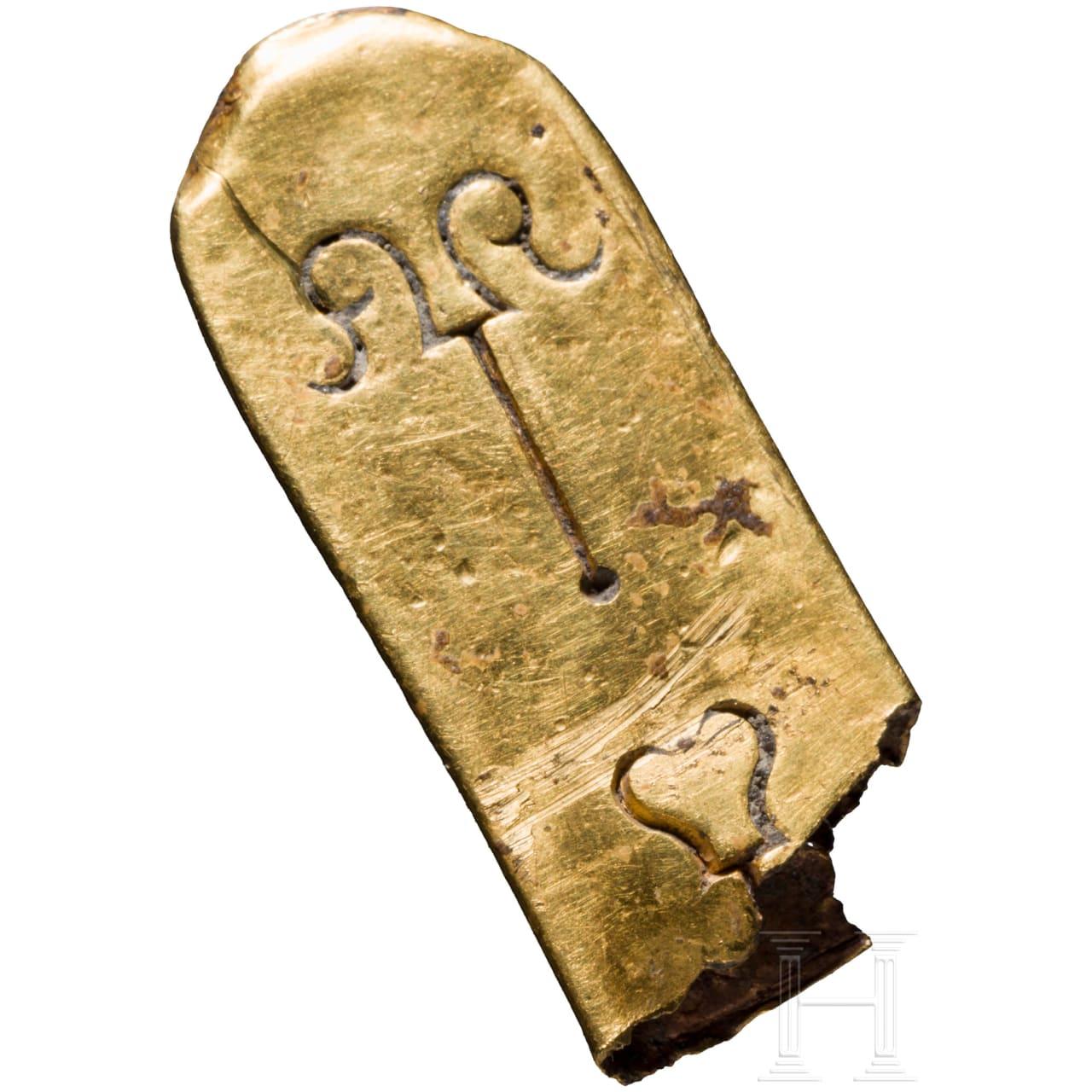 Goldene Riemenzunge, frühbyzantinisch, 6. - 7. Jhdt.