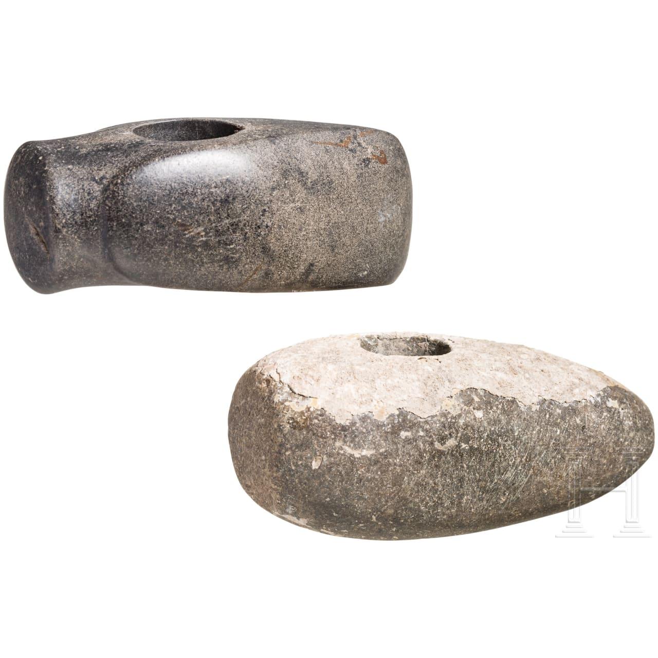 Zwei kurze Hammeräxte, Neolithikum, 4400 - 2500 v. Chr.