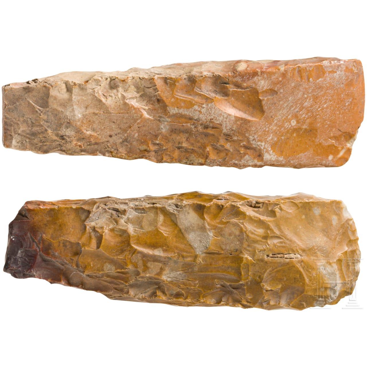 Zwei große Nackenbeile, Ostseeraum, Spätneolithikum, 3. Jtsd. v. Chr.