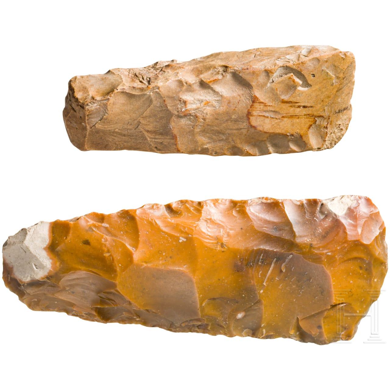 Zwei Nackenbeile, Ostseeraum, 3. Jtsd. v. Chr.