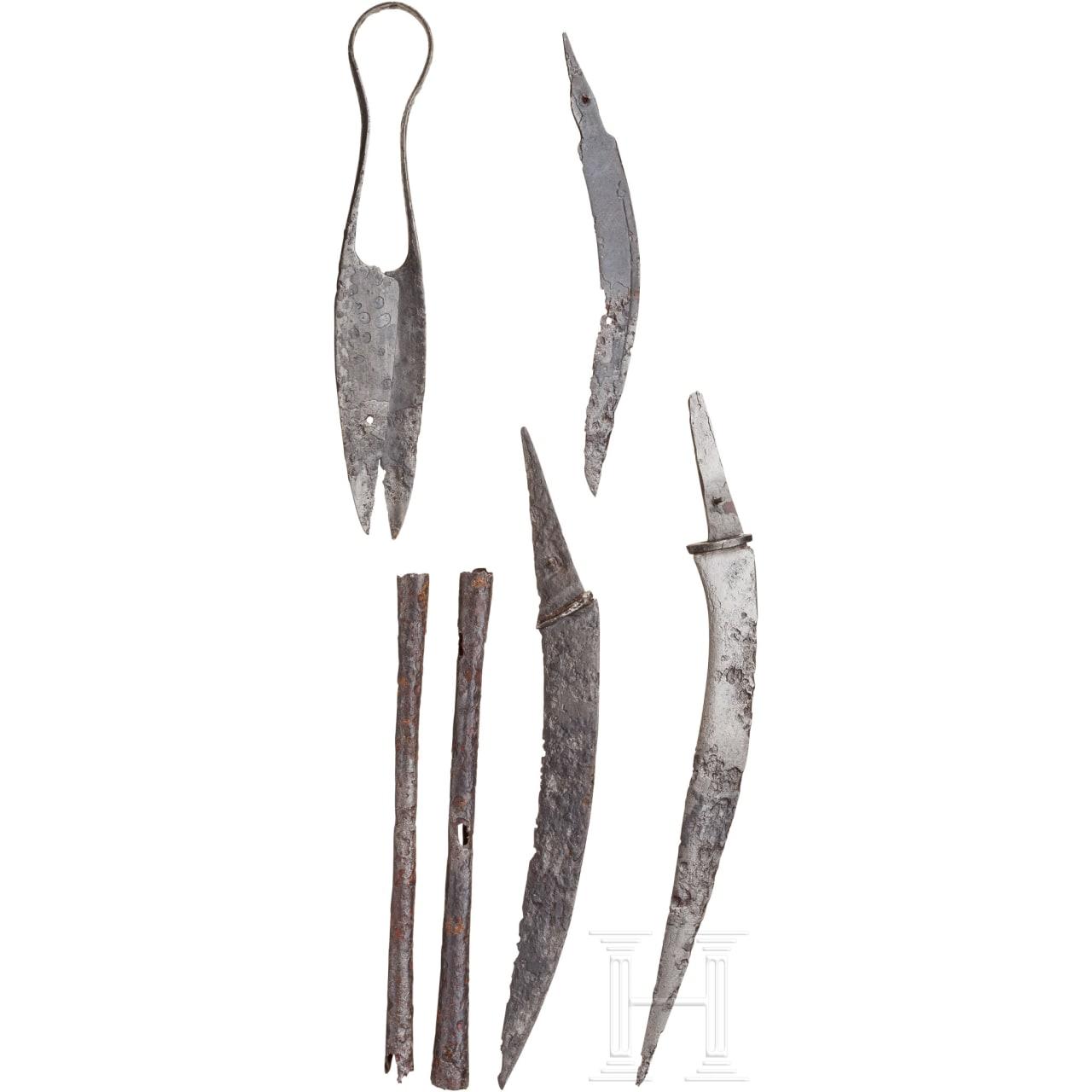 Sechs Eisenwerkzeuge, eisenzeitlich-römisch