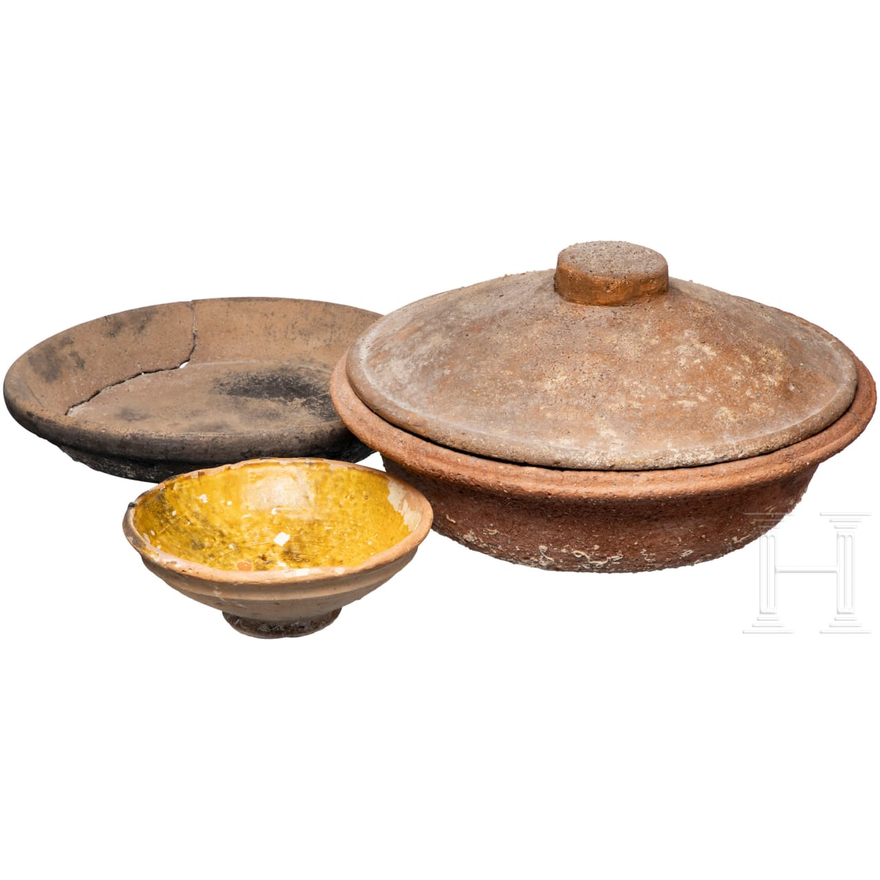 Drei Gefäße, Unterwasserfunde, römisch und frühneuzeitlich