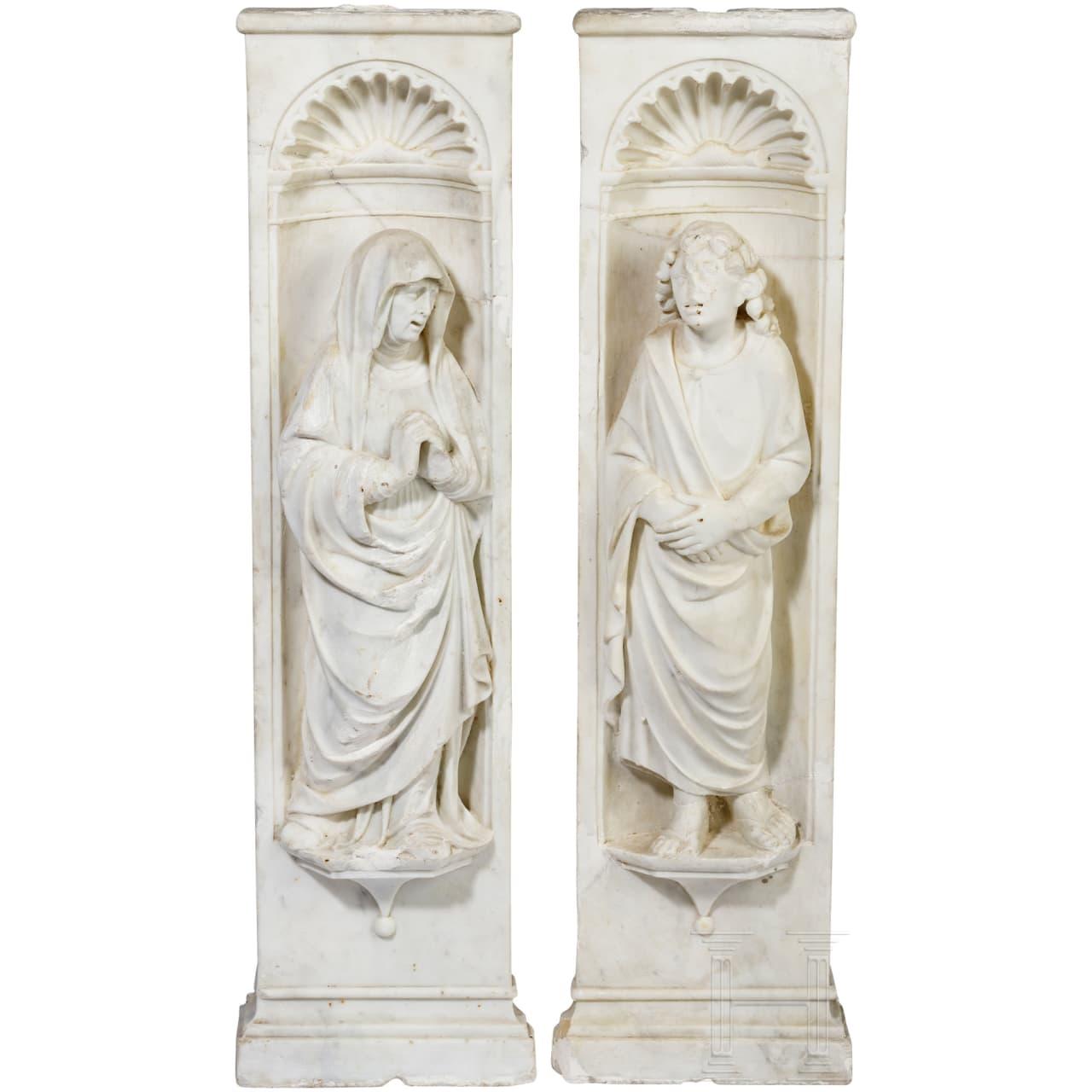 Ein seltenes Paar barocker Heiligendarstellungen, Italien, frühes 17. Jhdt.