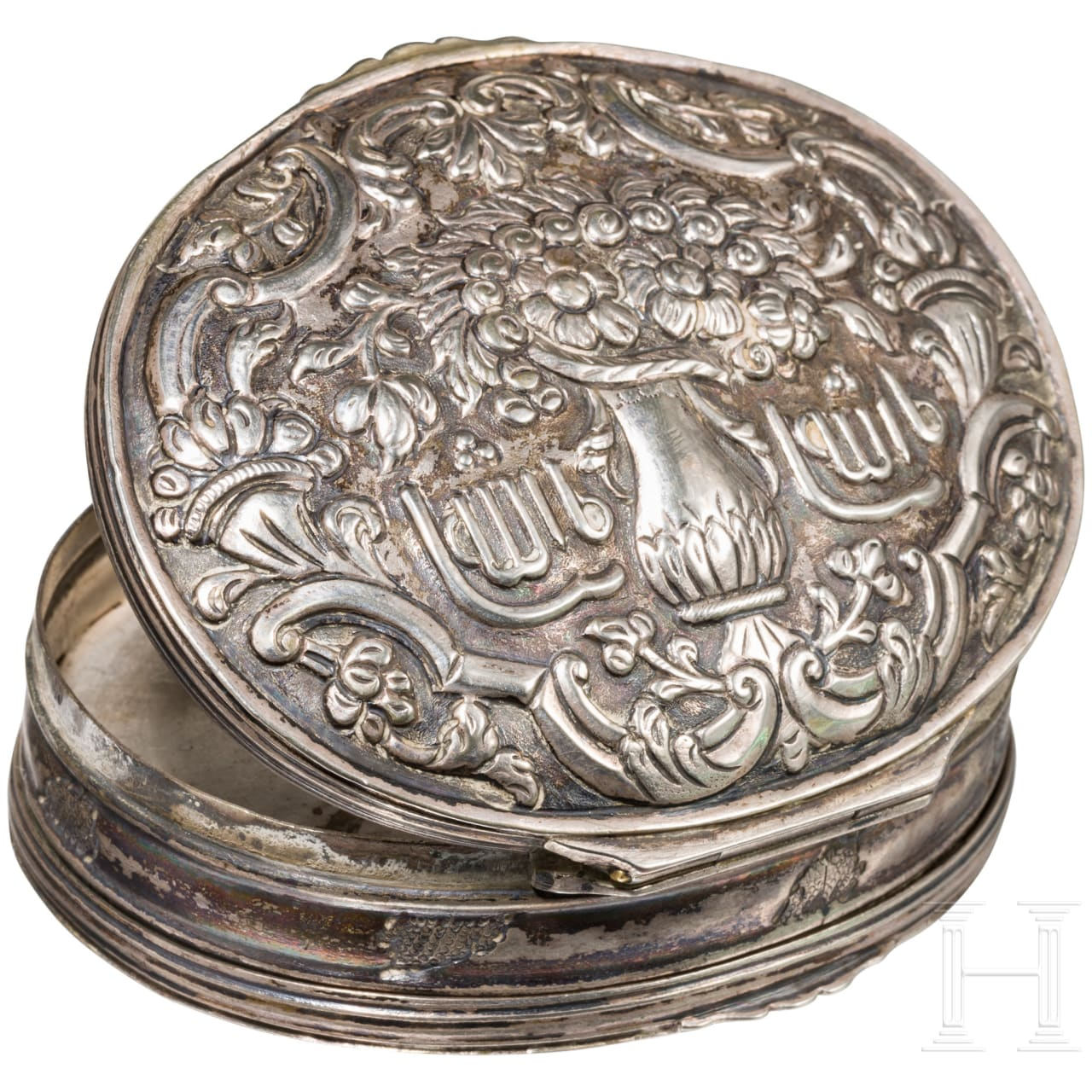 Silberdose, osmanisch, 19. Jhdt.