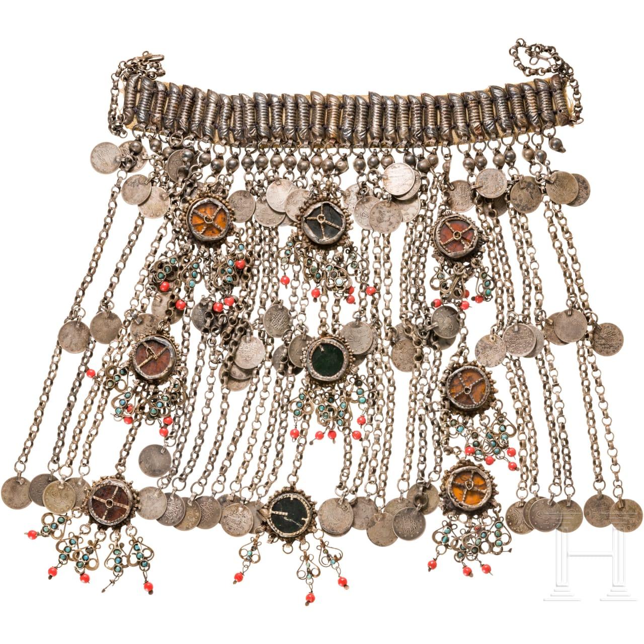 Silberner Hochzeitsschmuck, osmanisch, um 1900