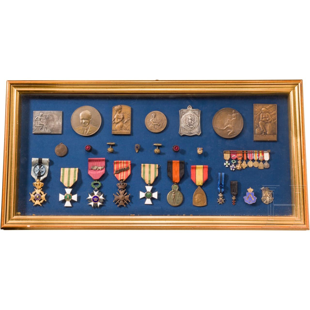 Sammlung Orden und Medaillen, überwiegend Belgien, 1. Hälfte 20. Jhdt.