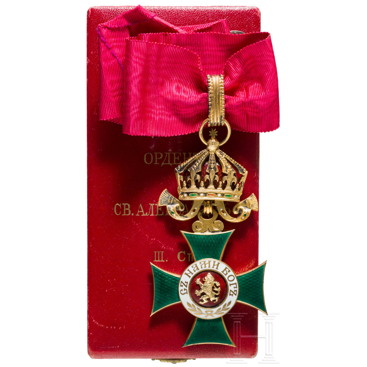 Kingdom of Bulgaria - Order of St. Alexander 3rd model from 1918 - III. class, Commander's Cross