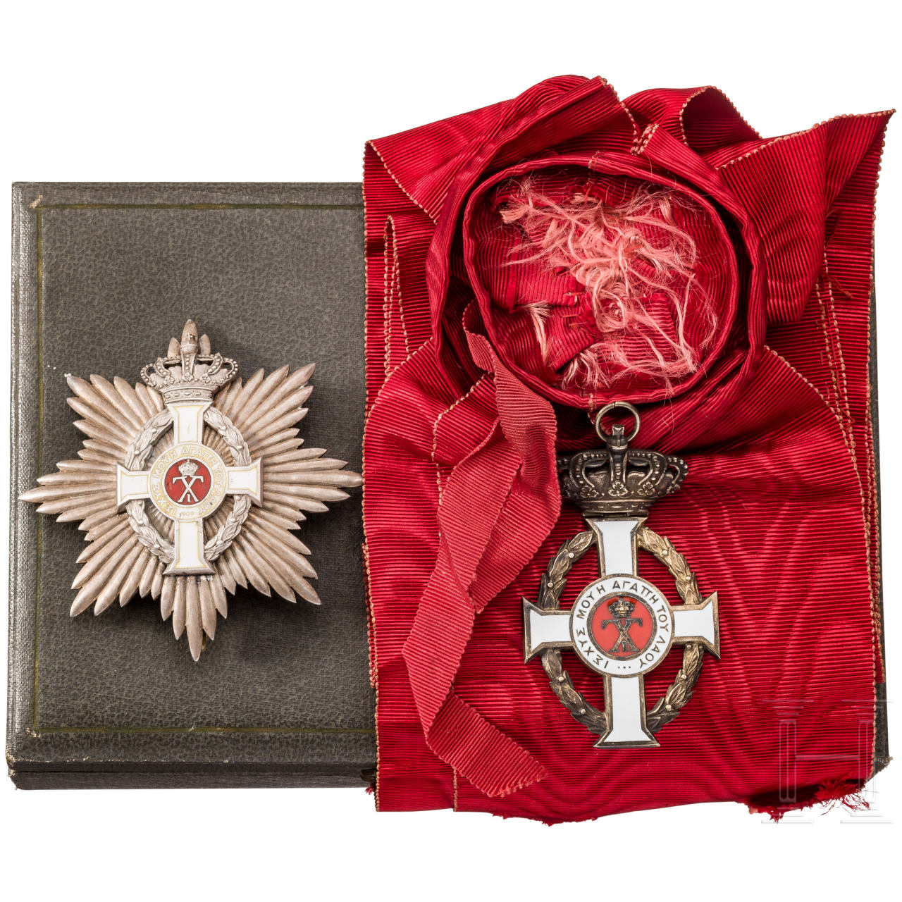 Order of George I. - Grand Cross with breast star in a case, sash
