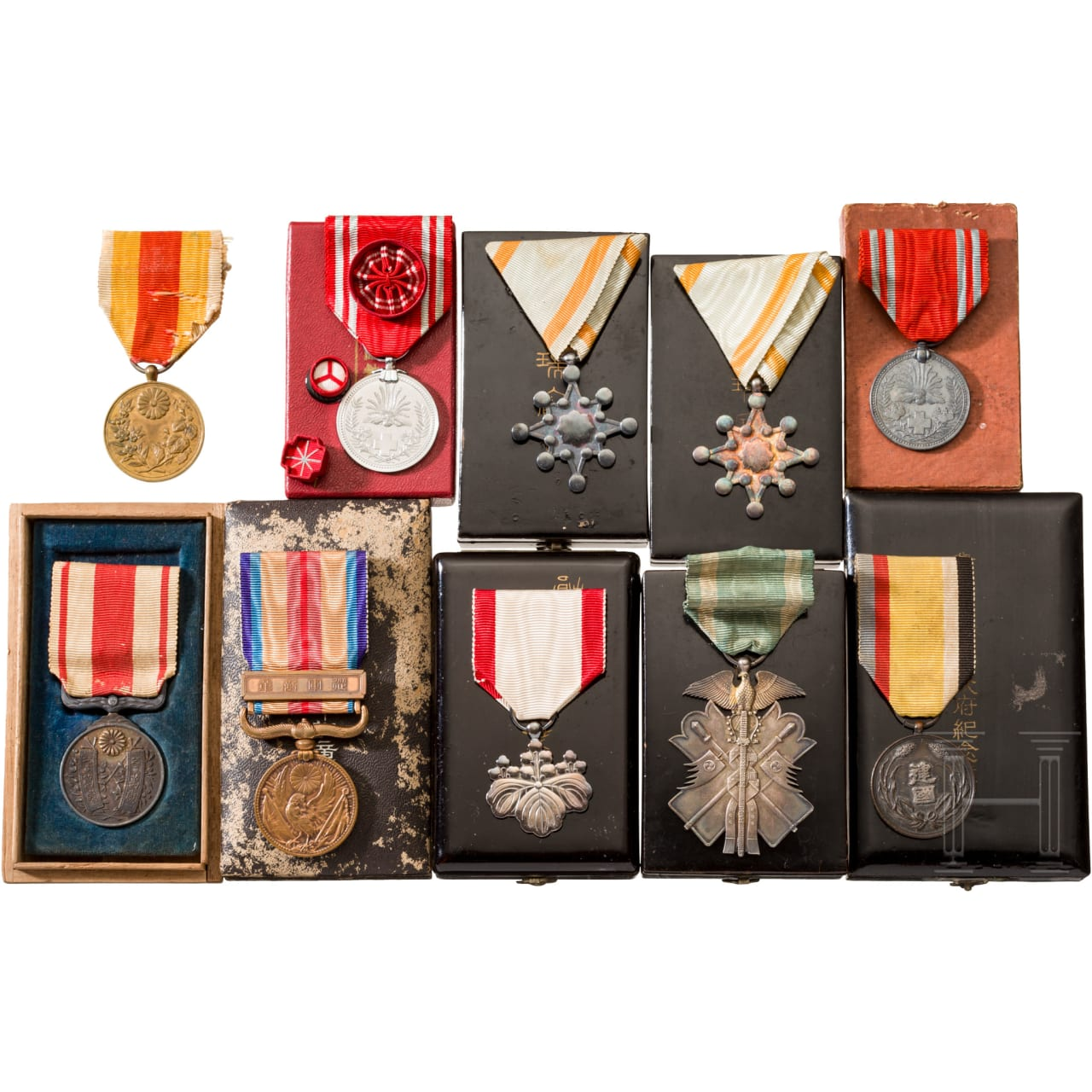 Small collection of Japanese awards, 1st half 20th century