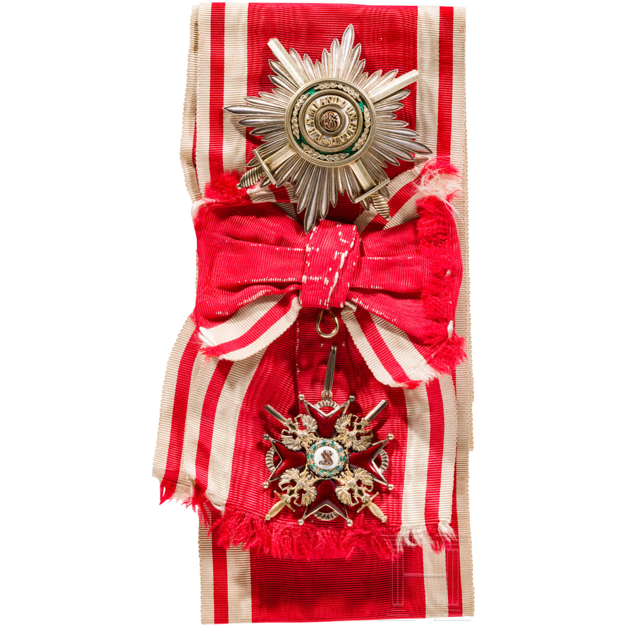 A Russian Order of St. Stanislaus, 1st Class set with swords, private production, late 19th century