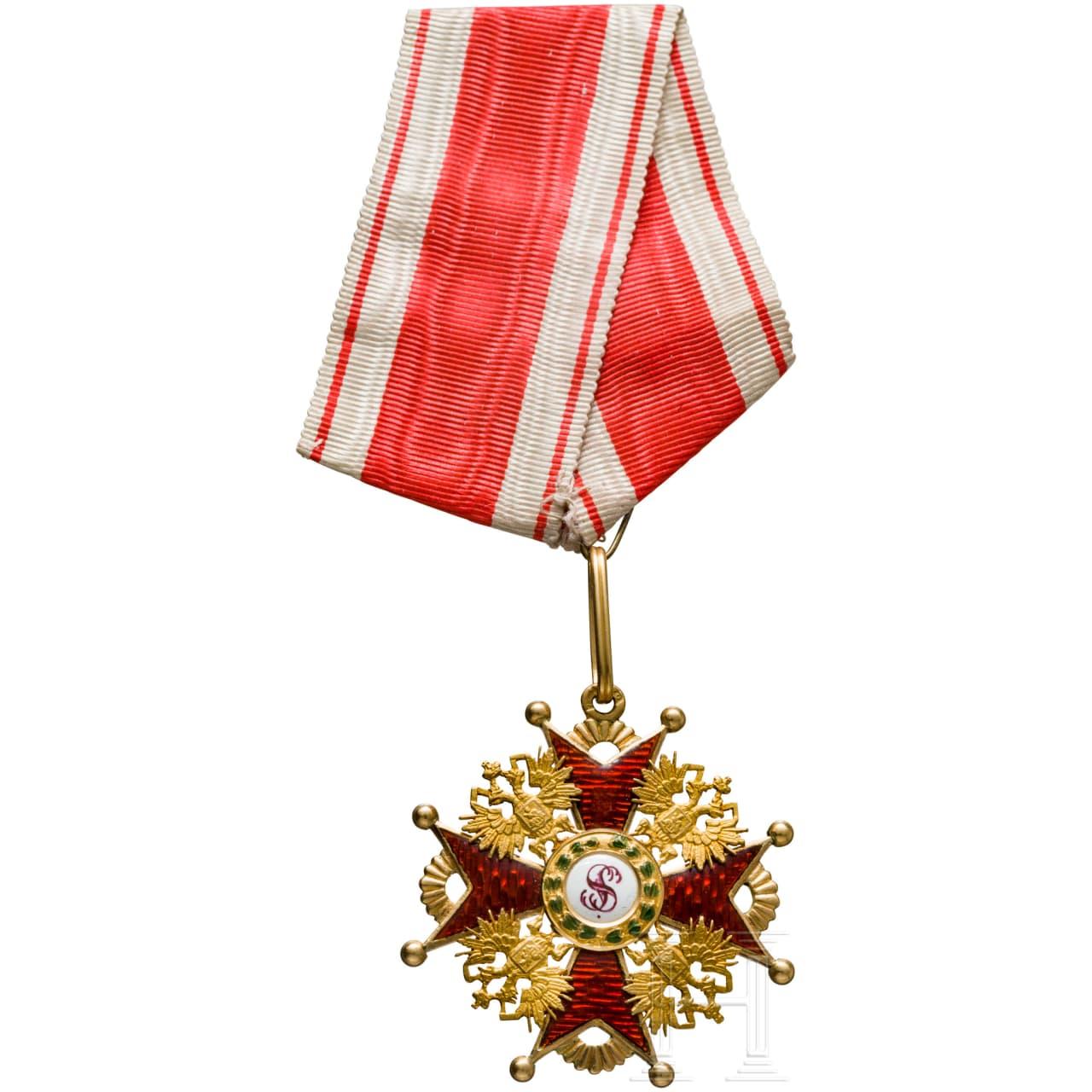 Order of St. Stanislaus, 3rd class cross, around 1900