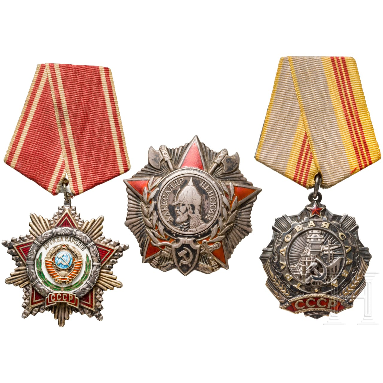 Three Soviet awards, since 1943