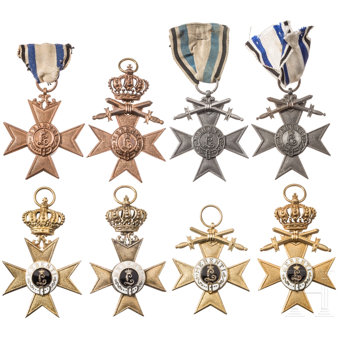 Eight 1st and 3rd Class Military Merit Crosses