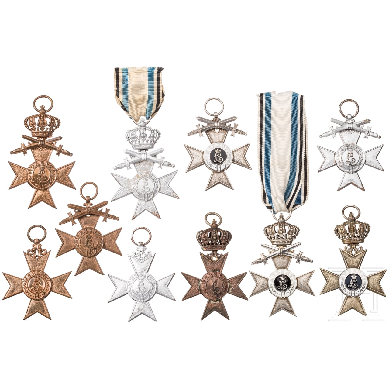 Ten 2nd and 3rd Class Military Merit Crosses