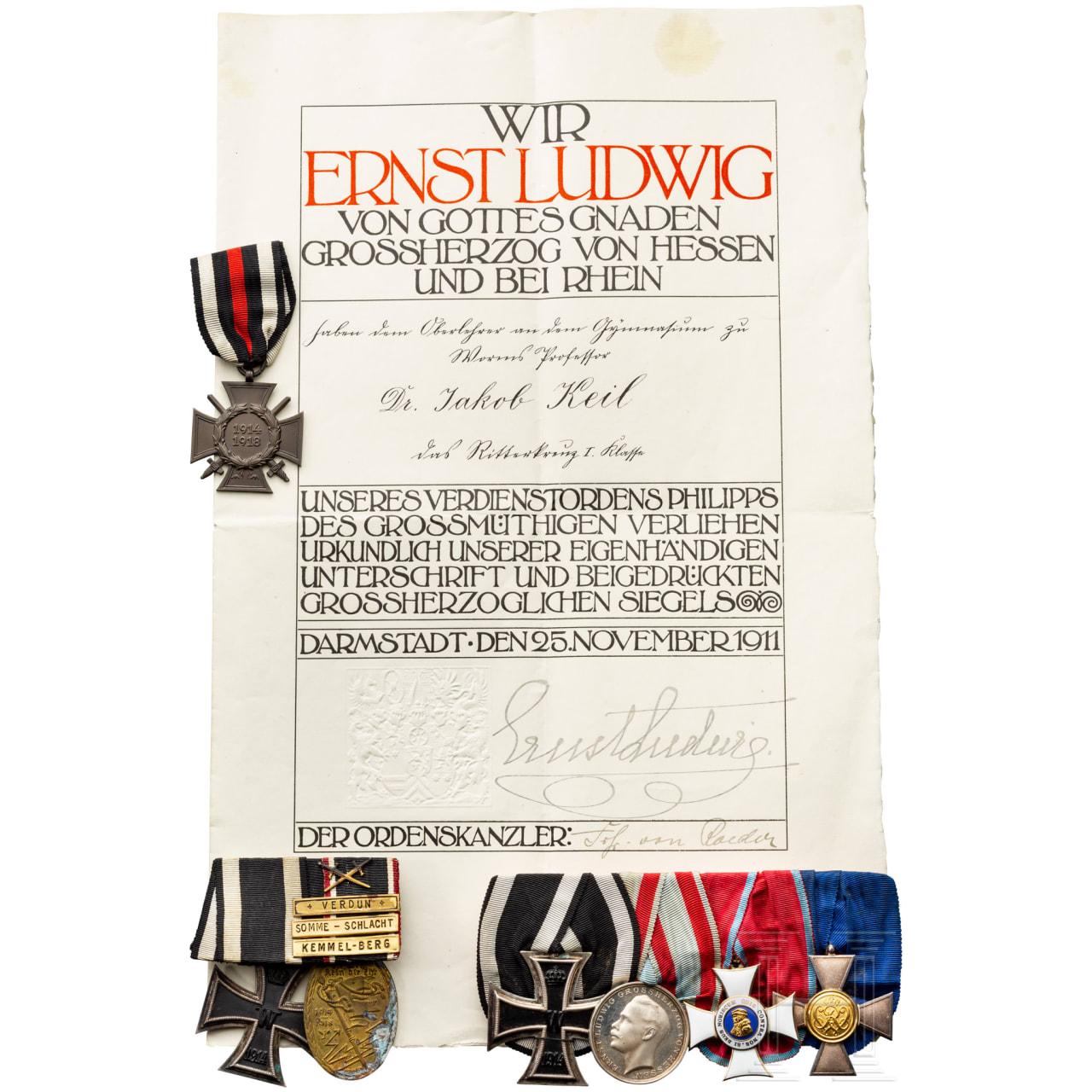 Major Keil of the Infantry Regiment No.118 - awards