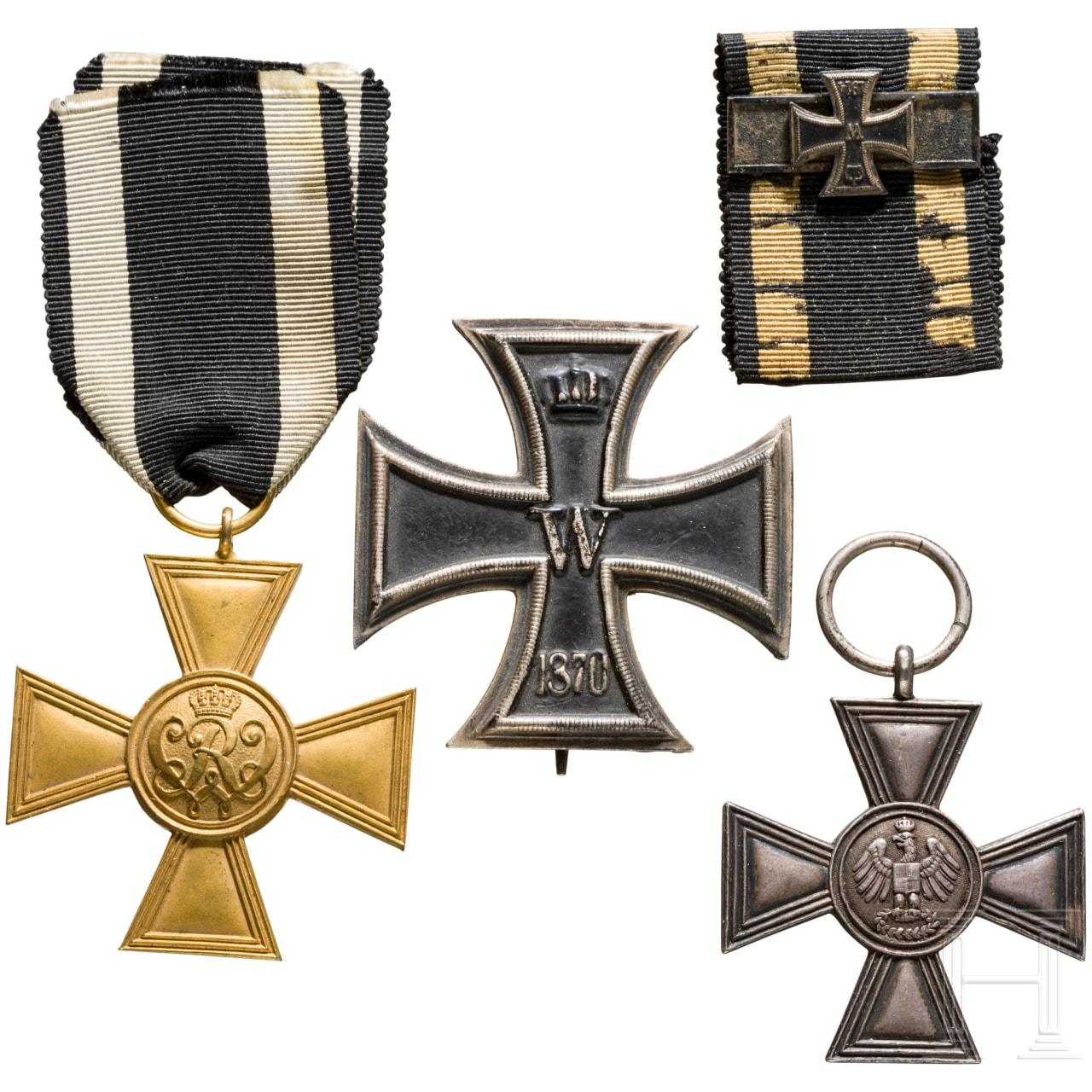 Four museum or collector's productions of awards from Prussia