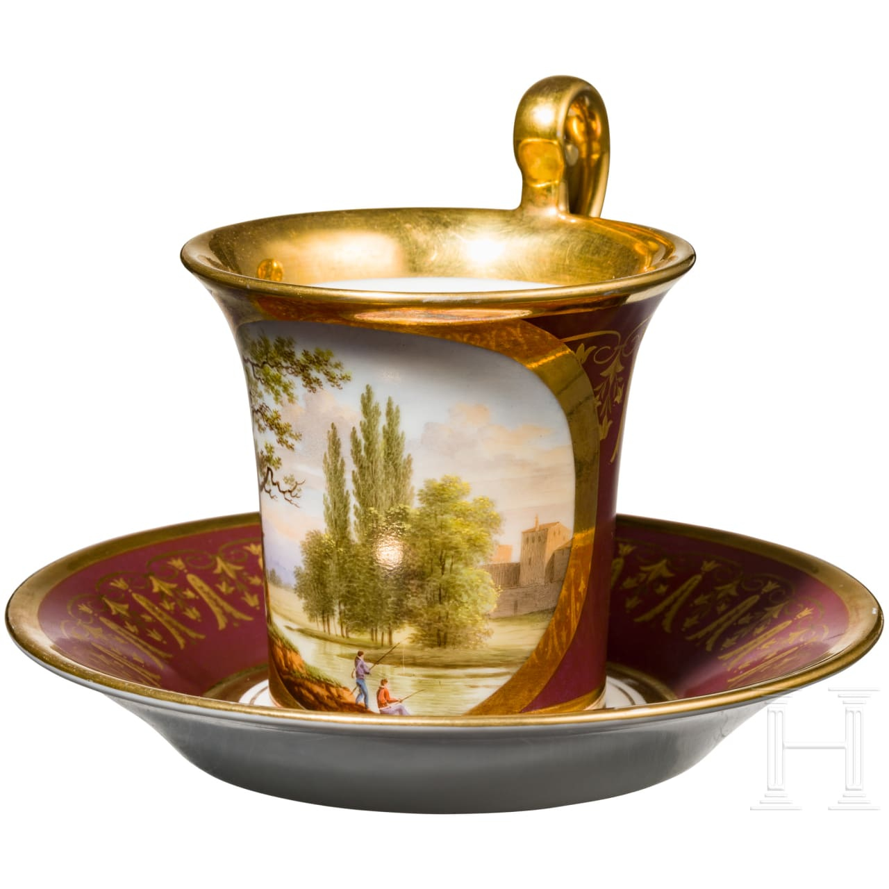 Cup with landscape, 1st half of the 19th century