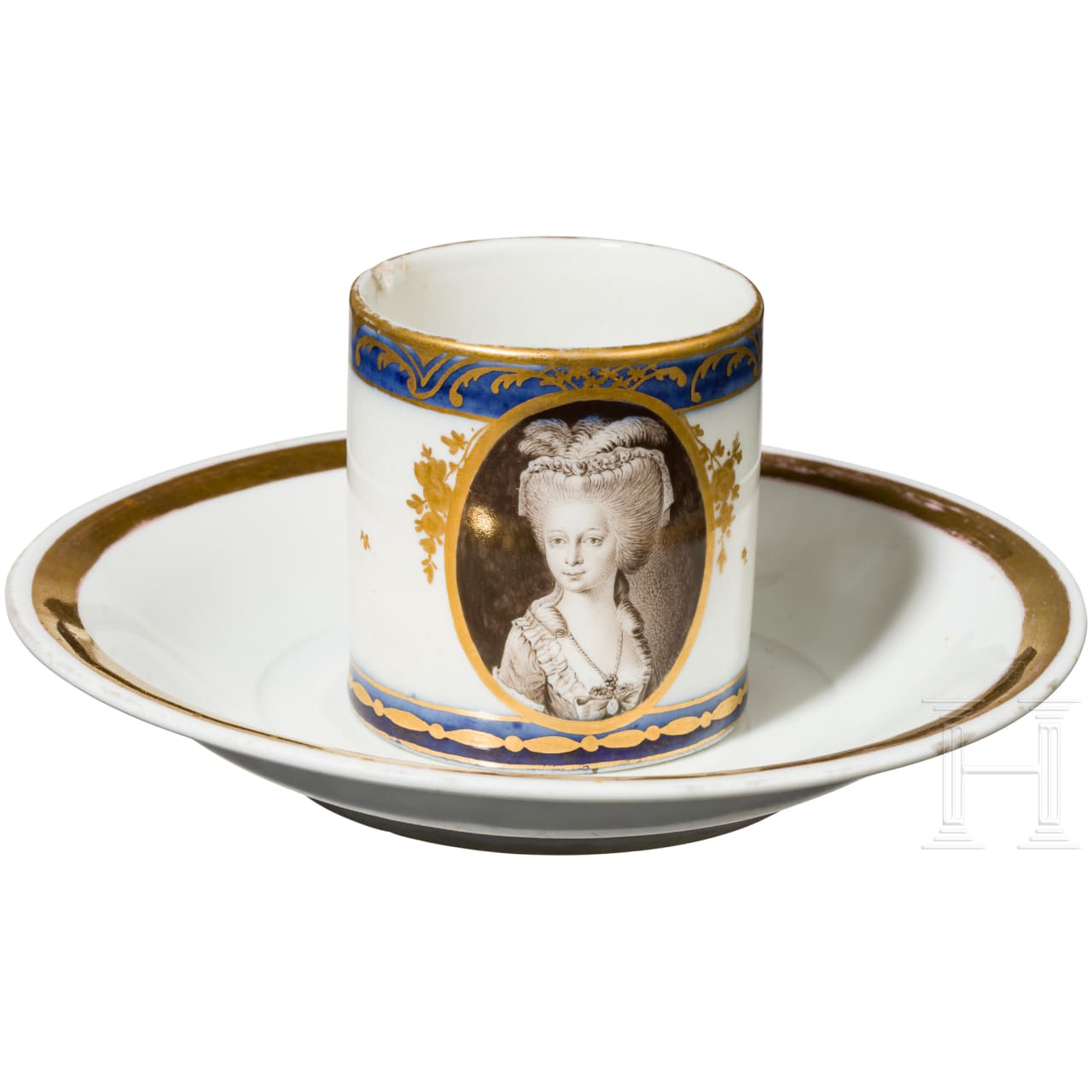 Cup with portrait of a lady, late 18th century