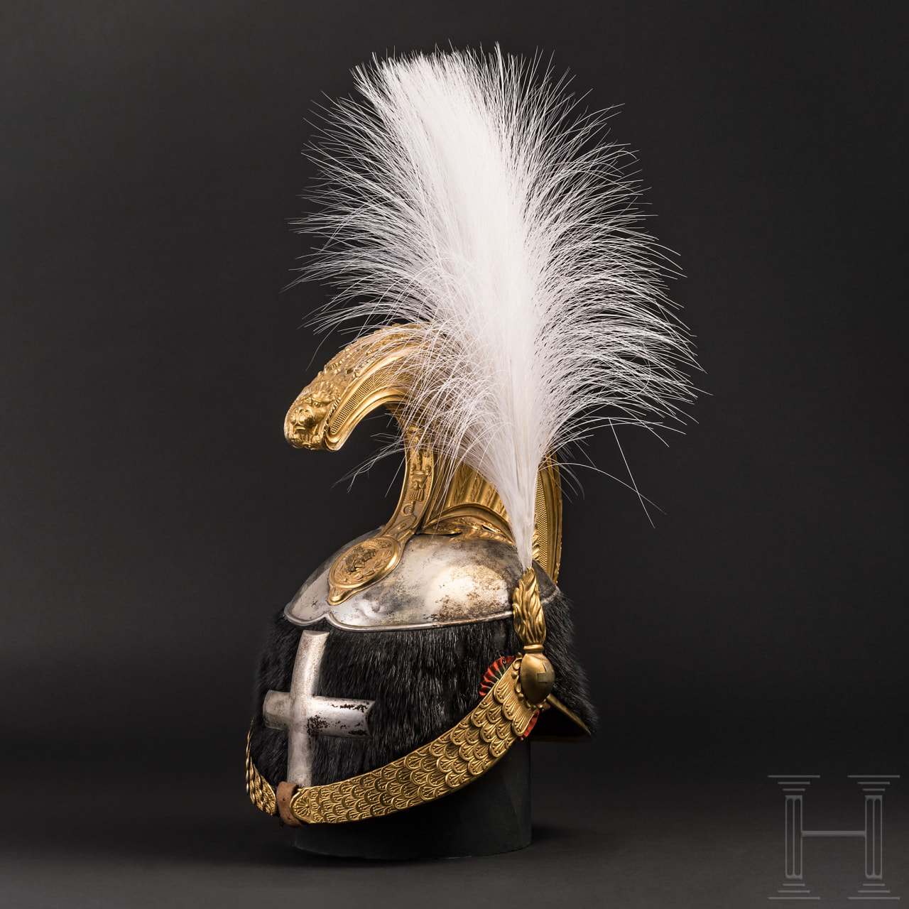 A helmet M 1880 for regiment commanders of the heavy cavalry, 1900-46