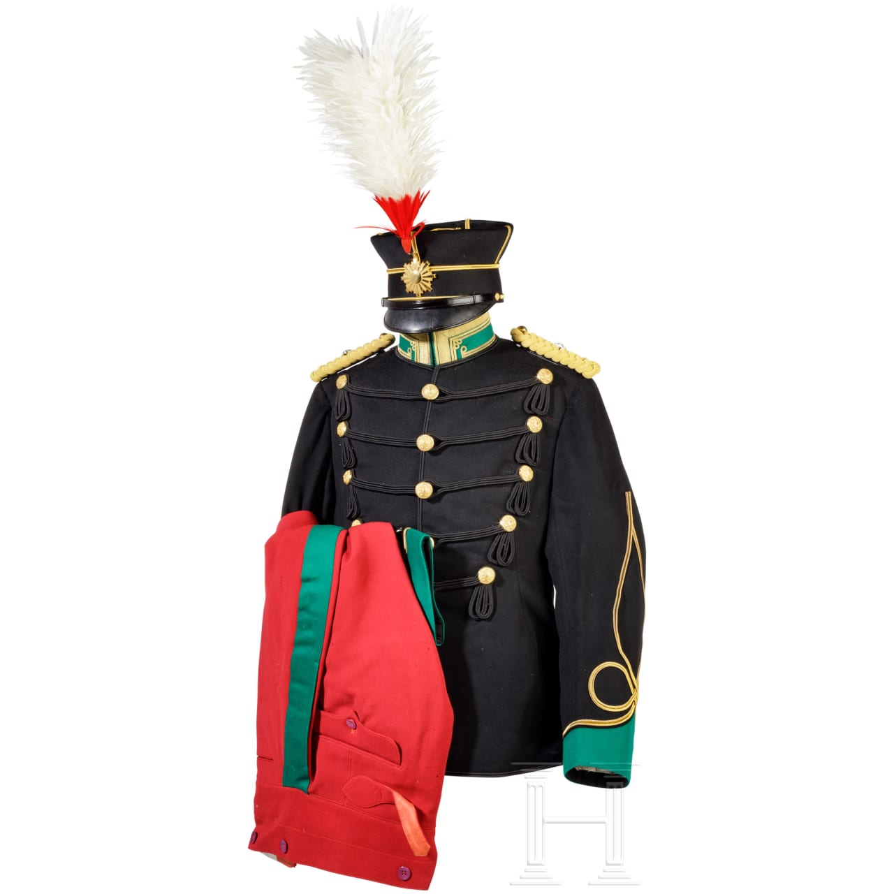 Uniform ensemble for a cavalry officer in World War II