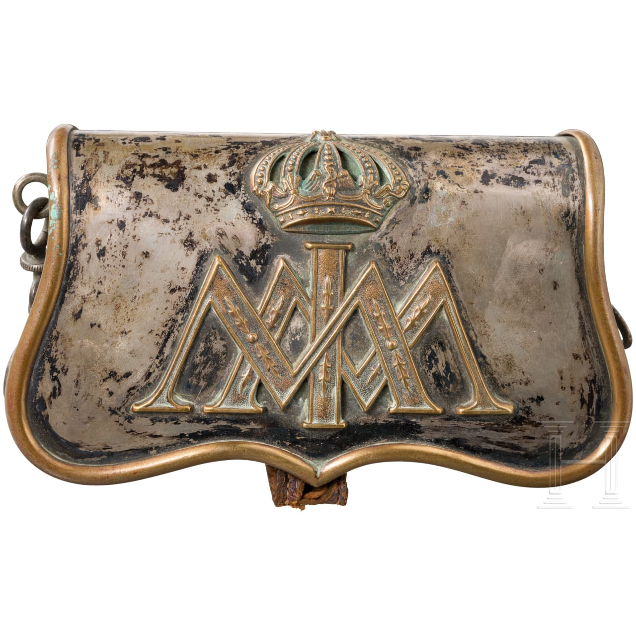A cartridge box in officer's version from the palace guard under Emperor Maximilian I of Mexico, 1864 – 1867