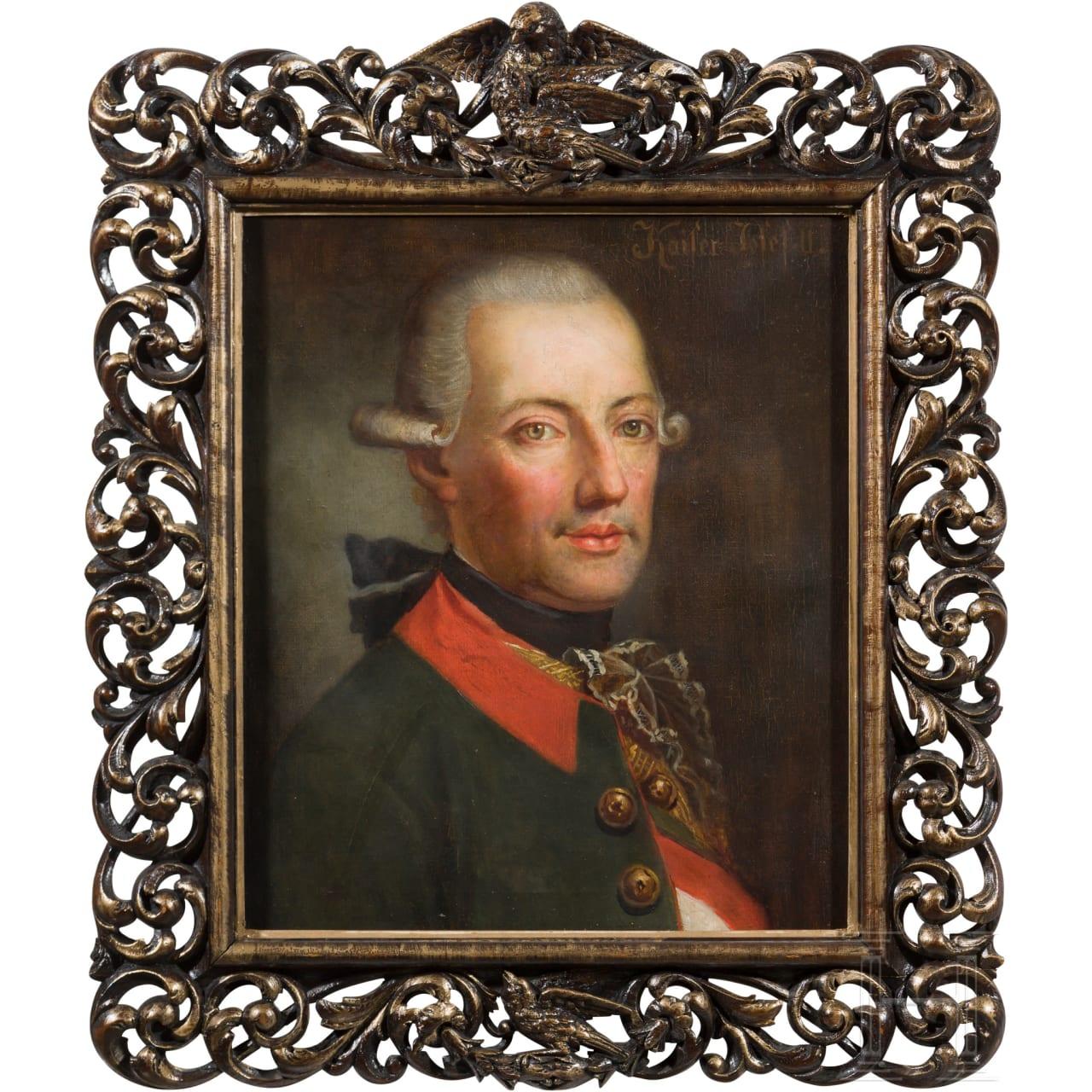 Emperor Joseph II (1741 - 1790) - breast portrait in dragoon uniform