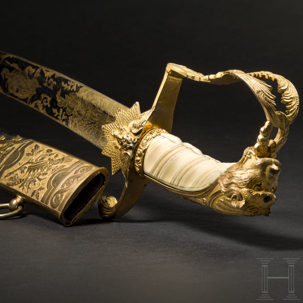 A significant ceremonial sabre - presented to Major David Ogilvy by the Brechin Volunteer Infantry Corps, 1808