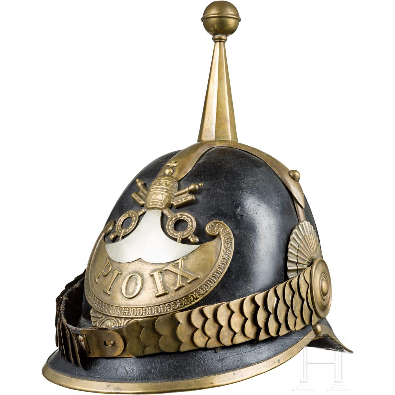 "Helmet for members of the ""Guardia Civica Pontificia"" from the pontificate Pius IX (1846-78)"