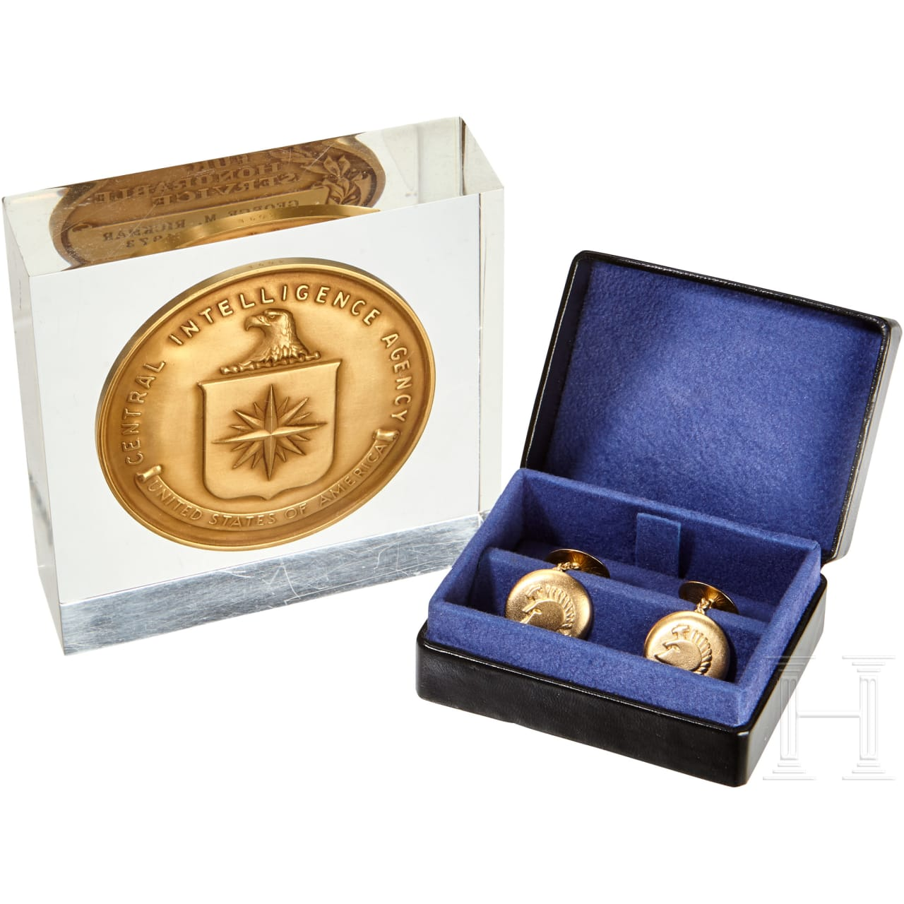 An American CIA Award and Cuff links