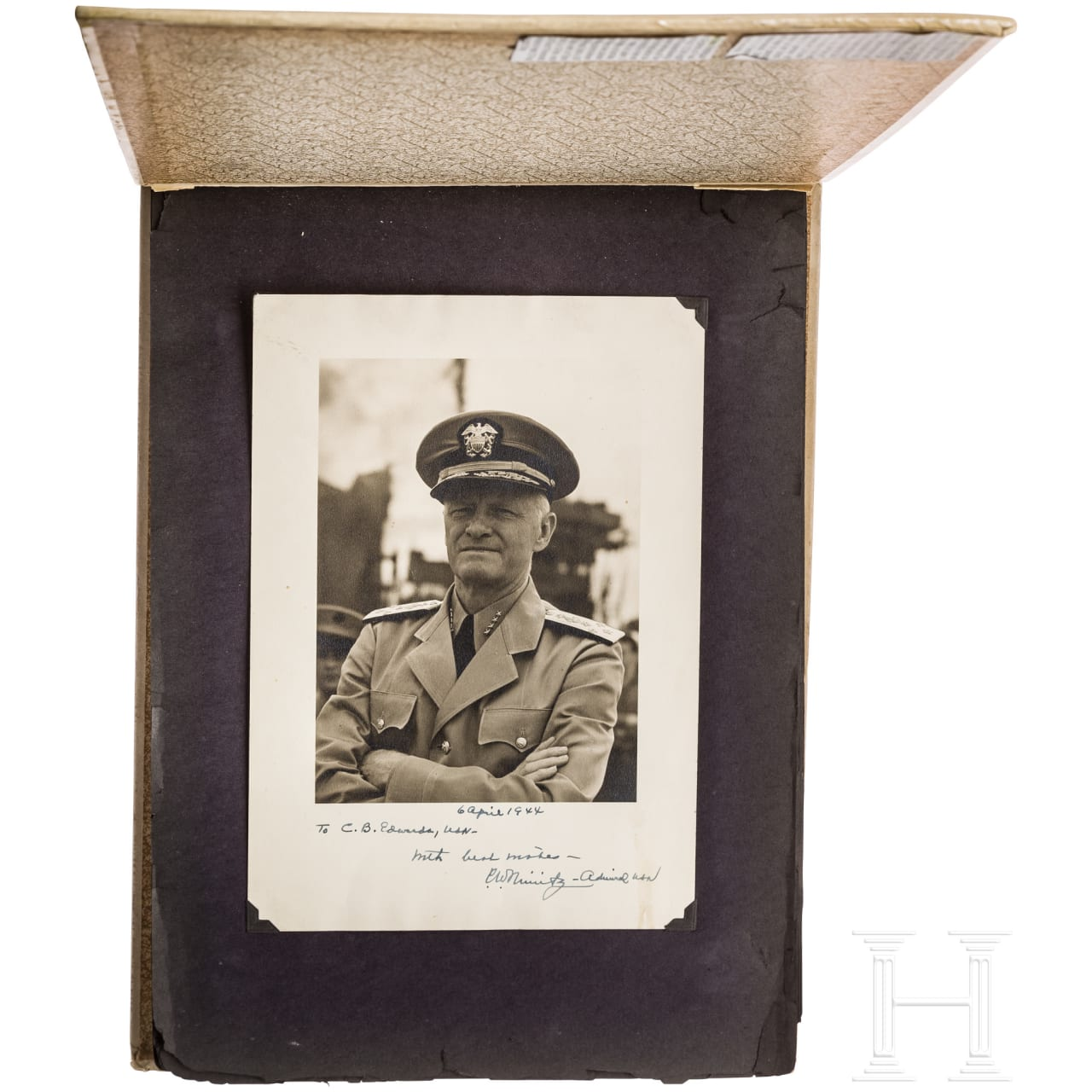 Signalman 1st Class Carl B Edwards - photo and memory album with autographs by fleet admiral Chester W. Nimitz 1938 - 1943
