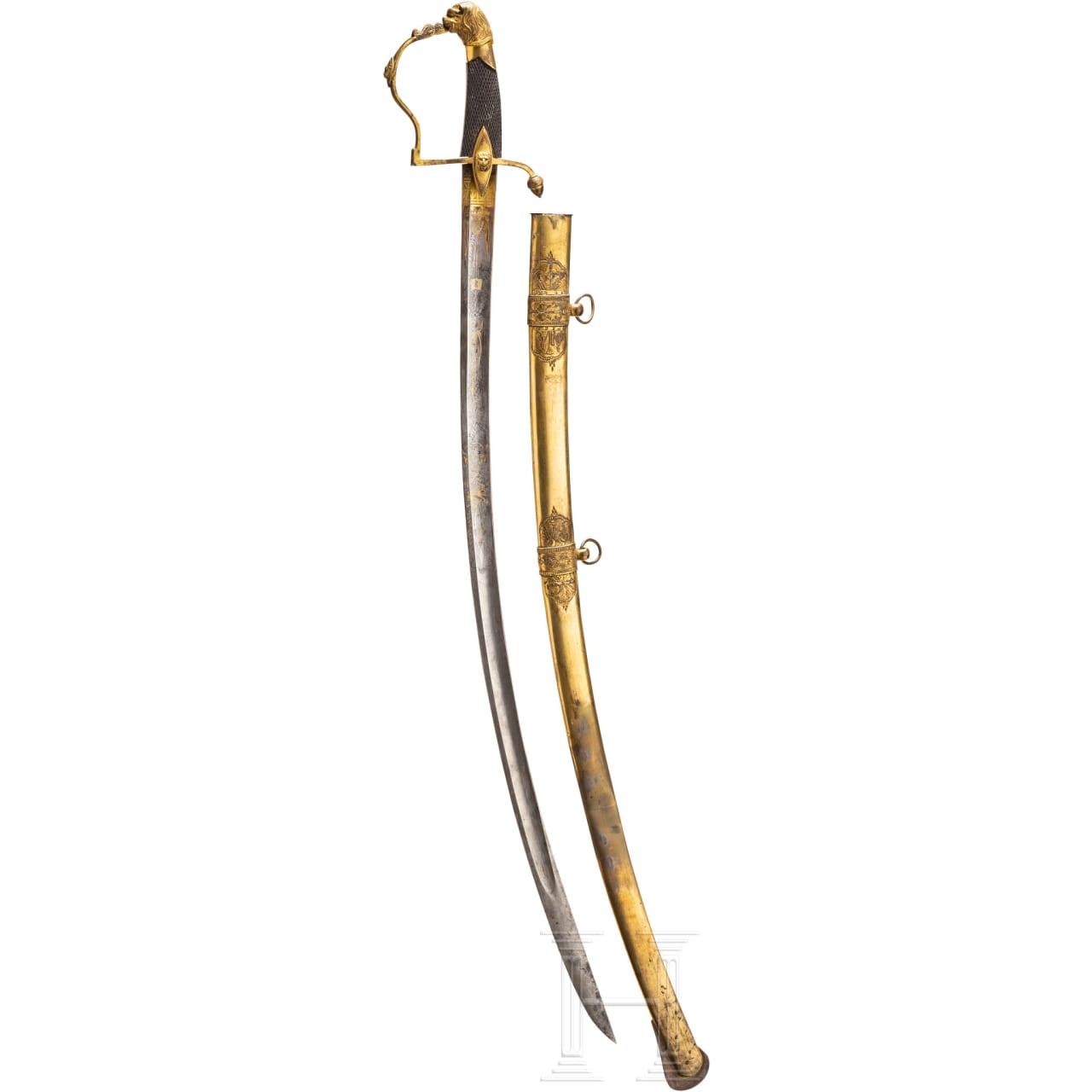 A German officer's sabre, circa 1830