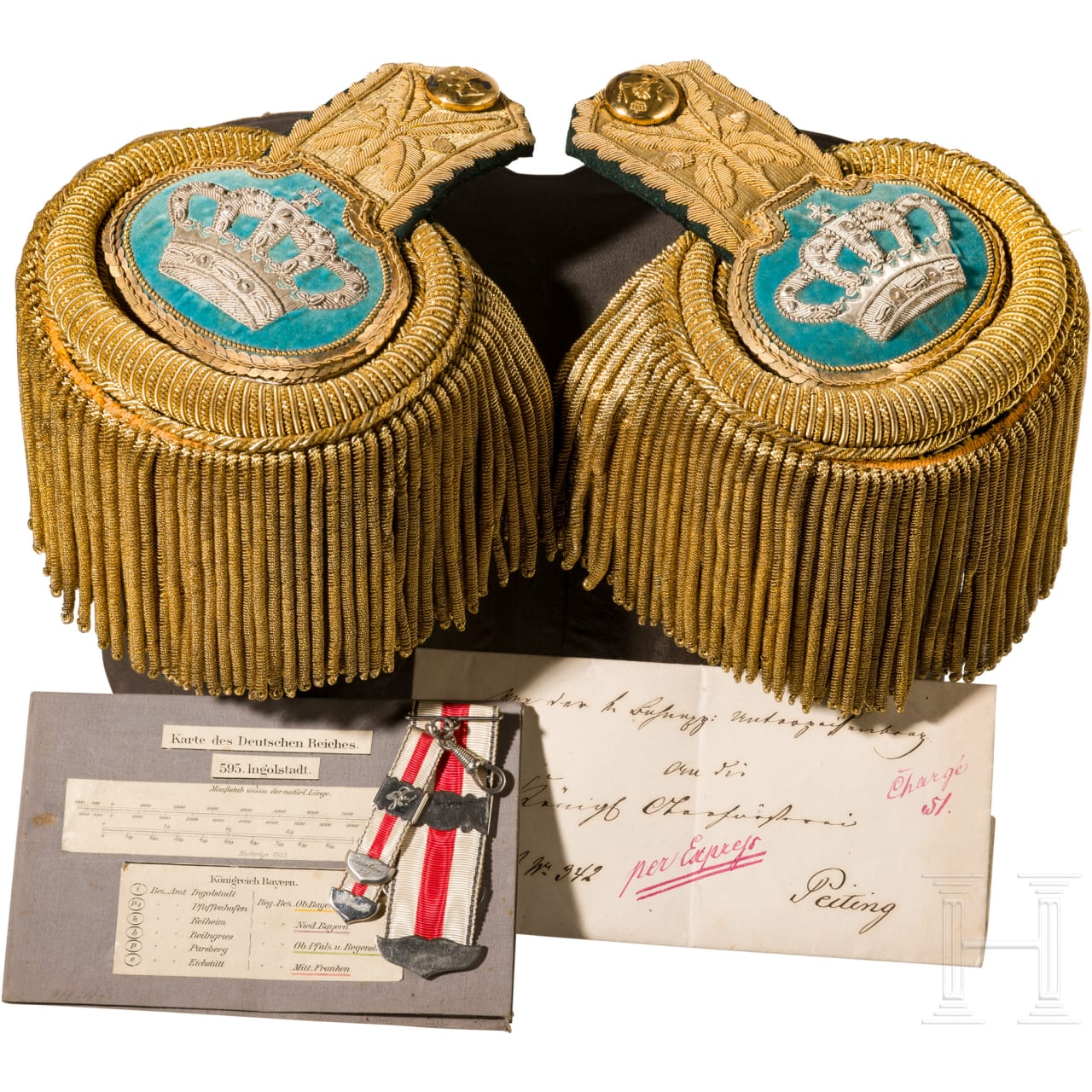 A pair of epaulettes for higher forest officials, 1886 - 1912