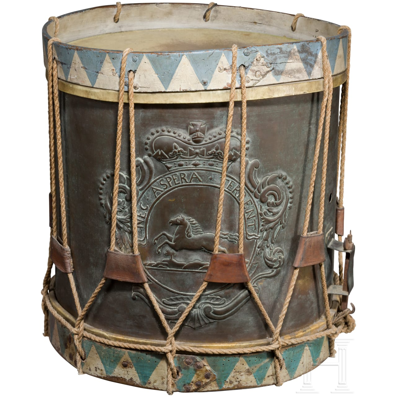 A marching drum for the infantry of the Electorate of Brunswick-Lüneburg, 18th century