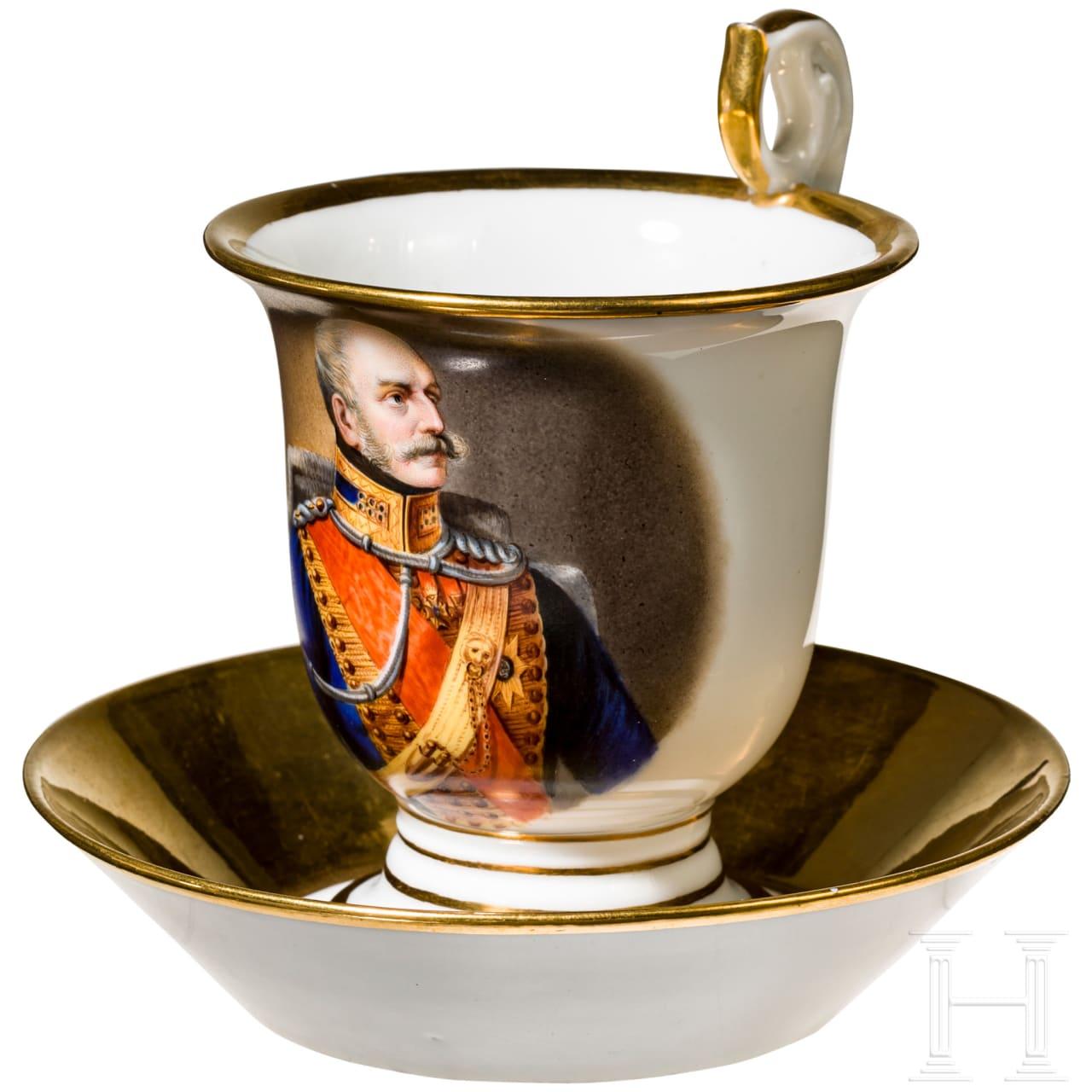 Ernst August I, King of Hanover - portrait cup, c. 1840