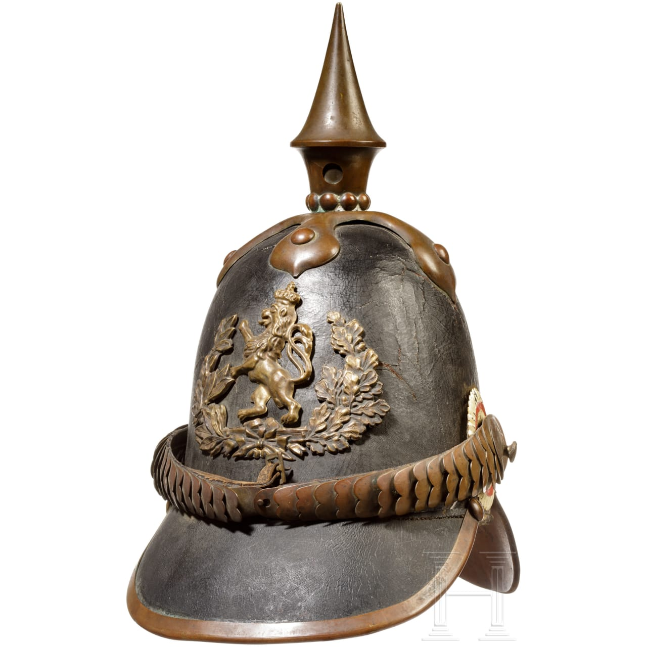A model 1842 enlisted man spike helmet for infantry