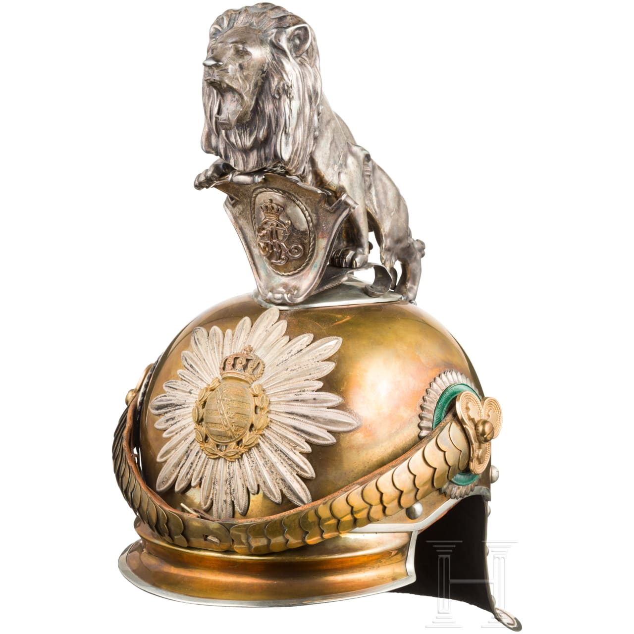 Helmet for officers of the guard cavalry, around 1900