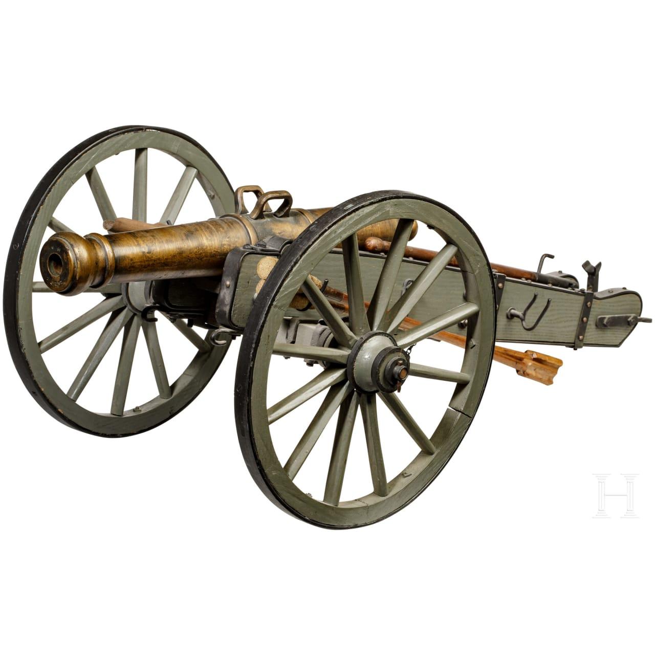 Modell eines Feldgeschützes im Stil des frühen 19. Jhdts.
